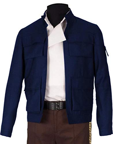 Han Solo Star Wars Empire Strikes Back Harrison Ford Blue Cotton Jacket (XXL, Blue Cotton Jacket)