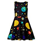 Ahegao Girl's Floral Sleeveless Dresses Kids One Piece Sundress for Casual School 4-13 Years Old