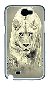 Cool Protective PC Case Skin for Iphone 5C with Lion Hunt (White)