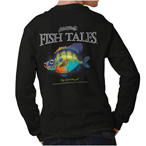 Gill McFinn Bug-Eyed Bluegill Fish Funny Fishing Gift Long Sleeve T Shirt Black -