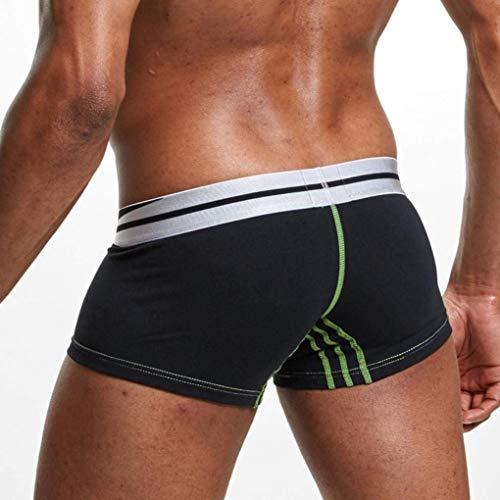 Cinturino Cotone Trasparenti Marca Traspirante Mode Pantaloncini Alla Tessuti Skin Di Con Piatto Friendly Moda Schwarz Intimo Comodi Uomo 5wqUZO