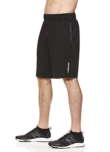 HEAD Mens Advantage Polyester Workout Gym & Running Shorts w/Elastic Waistband & Drawstring