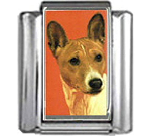 Stylysh Charms Basenji Dog Photo Italian 9mm Link DG046