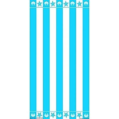 PROMOFLASH83 Serviette de plage Rayures turquoise 95X175 cm