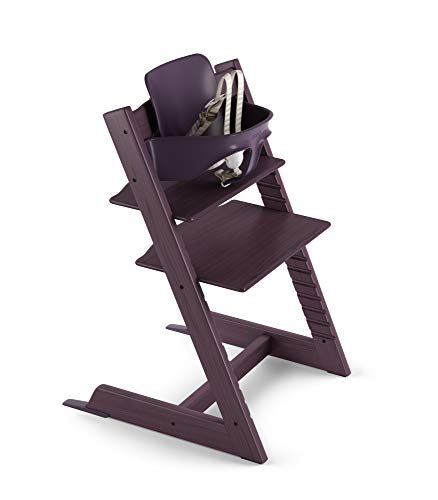 Stokke 2019 Tripp Trapp High Chair, Includes Baby Set, Plum - Compact Plum