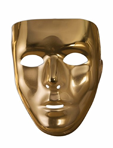 Gold Full Face Mask � Costume Accessory