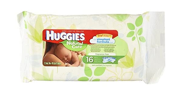 Amazon.com: Huggies Natural Care Fragrance Free baby Wipes 16 Count (3 Pack): Beauty