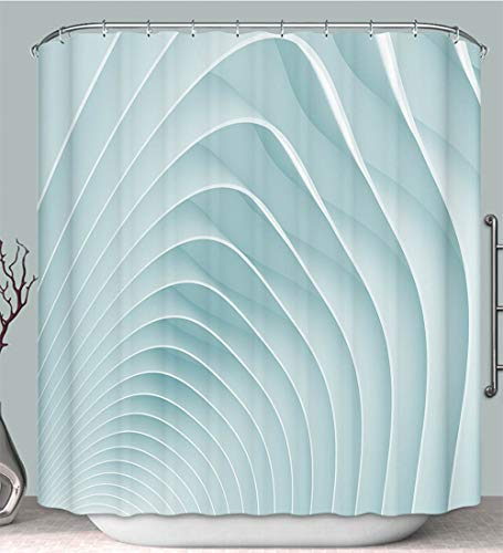 (HooMore Shower Curtain Liner Anti-Mildew Antibacterial Abstract Geometric Wallpaper Multi-Color,Fabric Shower Curtain Decoration Bathtub Bathroom Accessories with Hook)