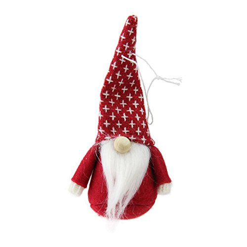 Northlight Set of 3 Red, Brown and Gray Santa Gnome Christmas Ornament Decorations 4.5'' by Northlight (Image #4)