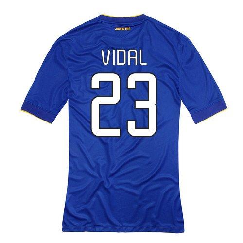 2014-15 Juventus Away Shirt (Vidal 23) B077VKNGB2Blue Small 34-36\