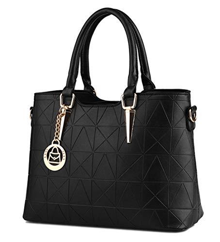 JHVYF Casual Top Handle Handbag Purse Tote Pu Leather Shoulder Bags Women #U ()