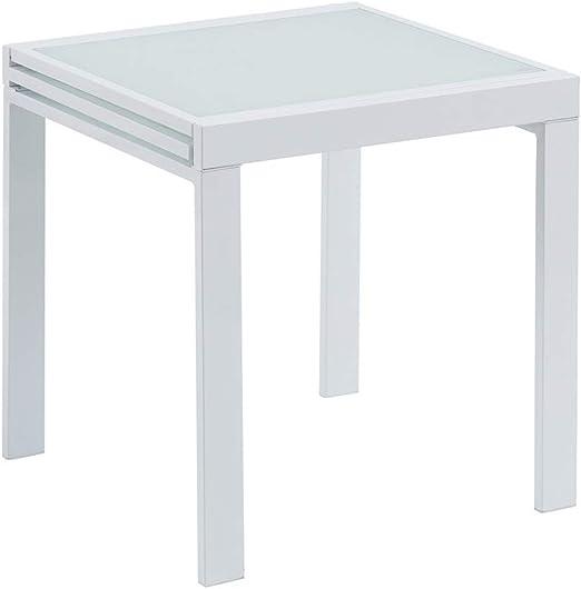 Mesa Extensible Blanca de Metal Moderna para Comedor Vitta ...