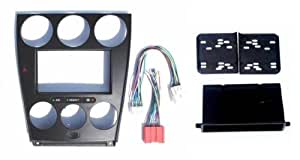 mazda 6 2005 2004 2006 aftermarket radio stereo installation install double din mount navigation. Black Bedroom Furniture Sets. Home Design Ideas