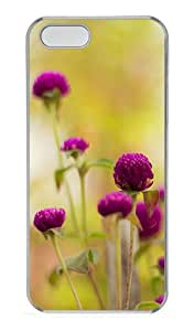 iPhone 5S Cases & Covers -Colorful Purple Flower Custom PC Hard Case Cover for iPhone 5/5S ¨CTransparent