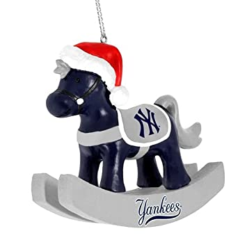 forever collectibles new york yankees mlb resin rocking horse christmas ornament