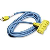 Black Box XX Heavy-Duty Indoor/Outdoor Utility Cord, Triple-Outlet, 12/3 Grounded, Blue, 15-ft. (4.5-m)