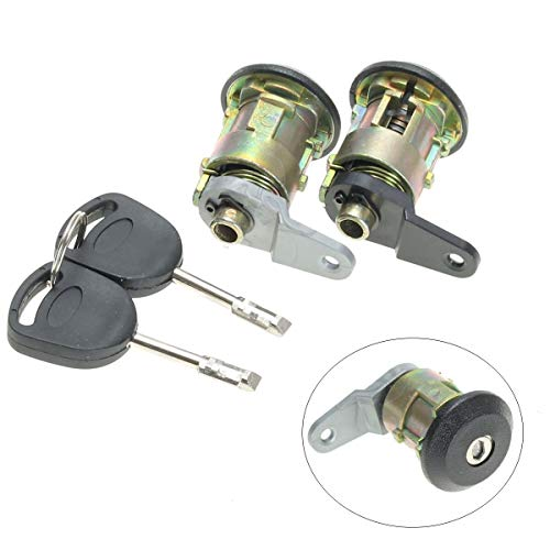 Star-Trade-Inc - 1 Set Front Door Lock Barrel Keys Set For Ford for Fiesta 1995-2002 KA 1996-2008 Courier Escort 1995-2001 - Ford Escort Front Door Handle