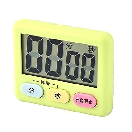 eDealMax ABS pilas Mini segundo minuto de cuenta atrás Hasta reloj temporizador verde