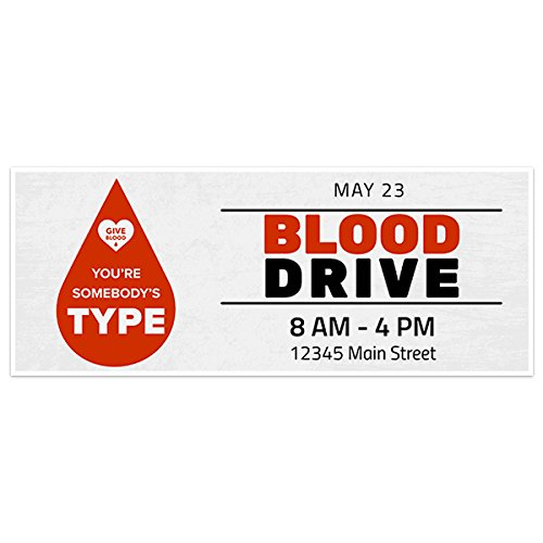 Fundraising Blood Drive Banner