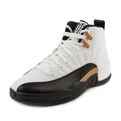 Jordan Nike Mens Air 12 Retro CNY Chinese New Year White/Black-Varsity Red Leather Size ()