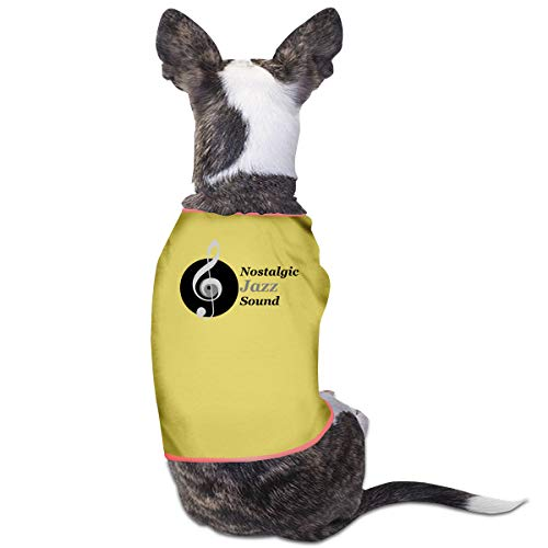 (Nicokee Puppy Dogs Shirts Costume Nostalgic Jazz Sound Pets Clothing Warm Vest T-Shirt)
