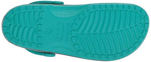 Crocs Unisex Klassieke Carbon Graphic Verstopt Tropische Teal