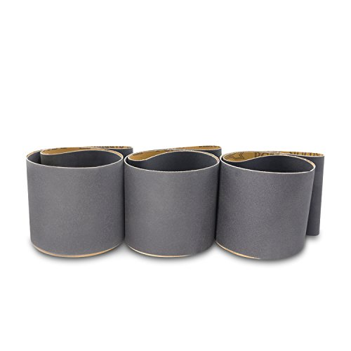 4 X 36 Inch Silicon Carbide Fine Grit Sanding Belts 220, 320, 400 Grits, 3 Pack Assortment