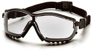 Pyramex Safety V2G GB1810ST - Gafas protectoras con protección antipolvo (patillas o cinta, lentes incoloras antiempañantes)