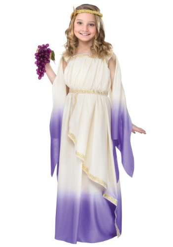 Halloween Greek Goddess Costume (Purple Greek Goddess Kids Costume)