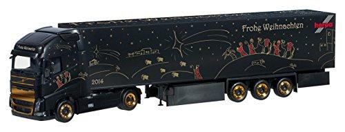 1/87 ボルボ FH Gl. XL ボックスセミトレーラー `Herpa クリスマストラック 2014`(ブラック) 303941