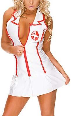 Alssfl Disfraces de Enfermera Sexy Cosplay Erótico Enfermera ...