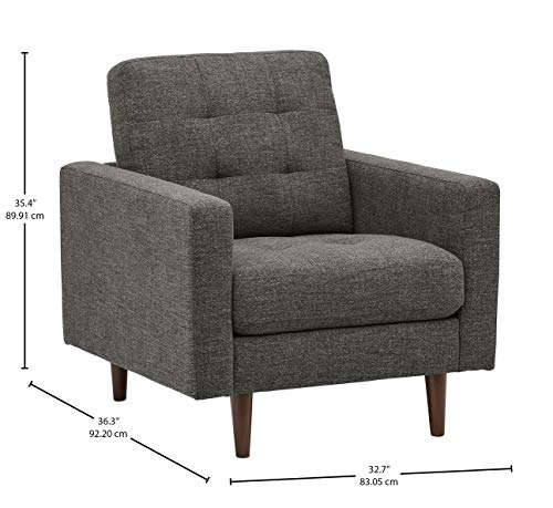 Rivet Cove Modern Tufted Accent Chair with Tapered Legs, Mid-Century, 32.7