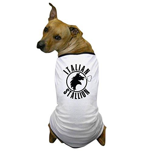 CafePress - The Italian Stallion (Black) Dog T-Shirt - Dog T-Shirt, Pet Clothing, Funny Dog Costume]()
