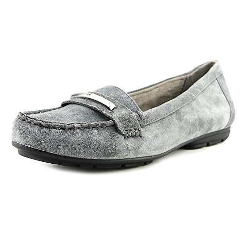 Naturalizer Womens Kamille Studded Loafers Graphite Suede