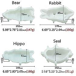 Animal Silicone Mousse Mold Dog Bear Rabbit Hippo