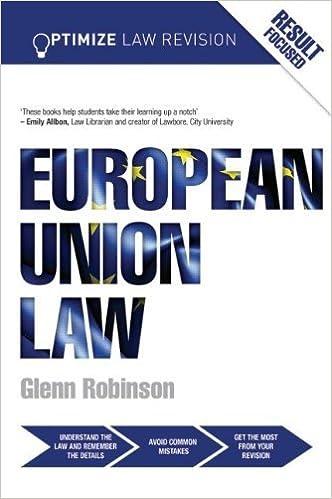 Book Optimize European Union Law by Glenn Robinson (2014-02-12)