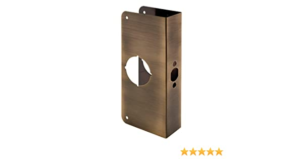 Prime-Line Products U 9571 1-3//4-Inch Thick by 2-3//4-Inch Backset 2-1//8-Inch Bore Non-Recessed Door Reinforce Antique Brass