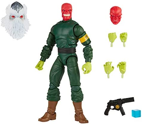 Marvel Hasbro Legends Series 6-inch Collectible Action Red Skull Figure and seven Accessories and 1 Build-a-Figure Part, Premium Design