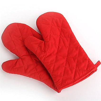 Lqchl 1pcs gruesos guantes para horno microondas Anti-escaldes aislamiento Guantes Guantes de cocina para