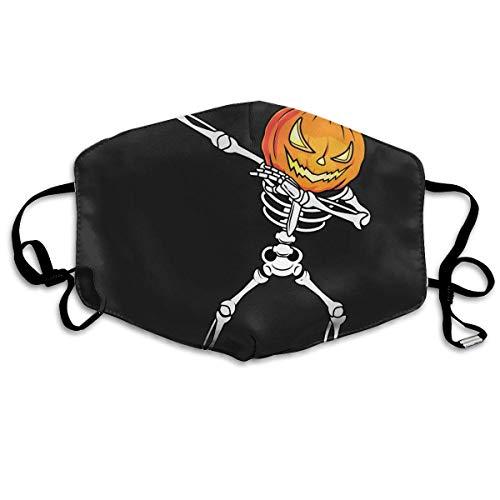 VBTY Dabbing Skeleton Halloween Pumpkin Printed Mouth Masks Unisex Anti-dust Masks Reusable Face Mask ()