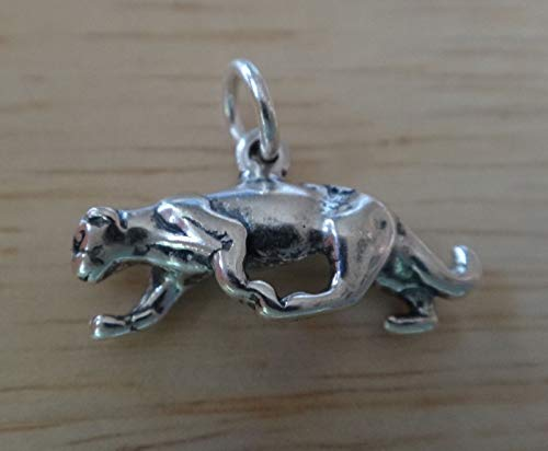 Fine Charms 1 Sterling Silver 3D 12x18mm Mountain Lion Cougar Panther