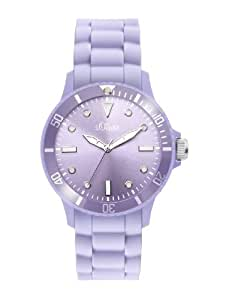 s.Oliver s.Oliver - Reloj analógico de mujer de cuarzo con correa de silicona lila - sumergible a 50 metros
