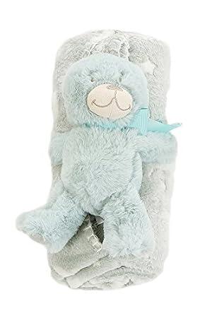 75 CM X 75 CM ADORABLE TEDDY BEAR HOODED BABY BLANKET APPROX CROCHET PATTERN