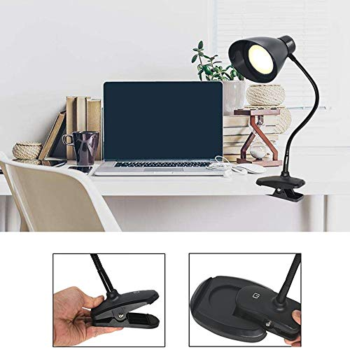 Vnlig Table Lamp Simple Casual LED Seat Clip Dual-use USB Interface Touch Switch Control Lighting Desktop Reading Light by Vnlig (Image #1)