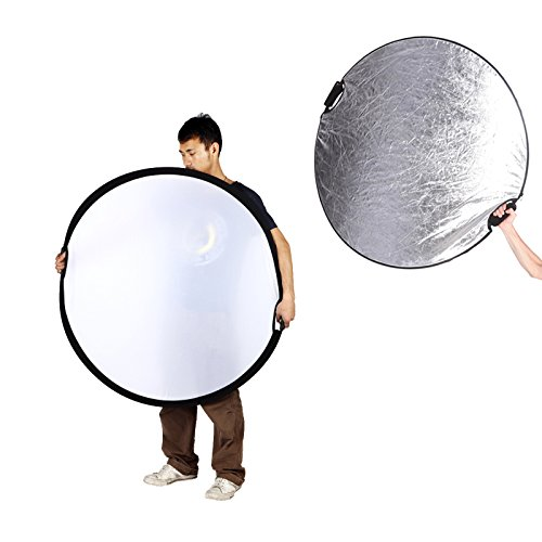 Selens 5-in-1 43 Inch (110cm) Portable Handle Round Reflector Collapsible Multi Disc with Carrying Case for Photography Photo Studio Lighting & Outdoor Lighting by Selens (Image #5)