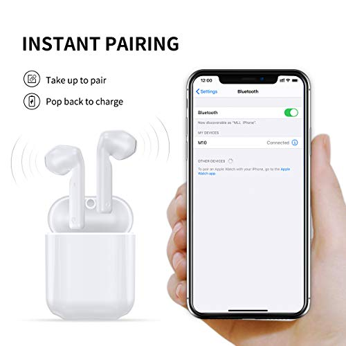 Bluetooth Wireless Earbuds Bluetooth Headphones Earphones with 30H Playtime HiFi 3D Stereo Sound,IPX5 Waterproof Built-in Mic Earphones CVC8.0 Apt-X with Charging Case for Sports