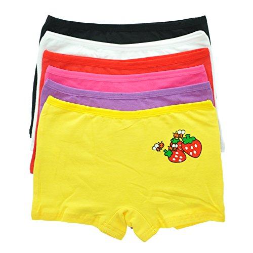 Maria Rosa 6-Pack Girls Cotton Spandex Boxer #6027_M