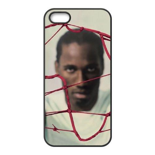 Drogba coque iPhone 5 5S cellulaire cas coque de téléphone cas téléphone cellulaire noir couvercle EOKXLLNCD23367