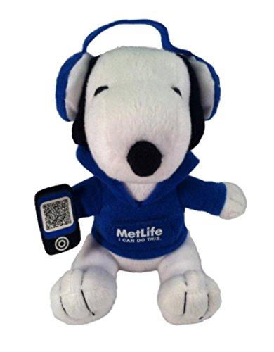 Metlife Snoopy Plush With Headphones
