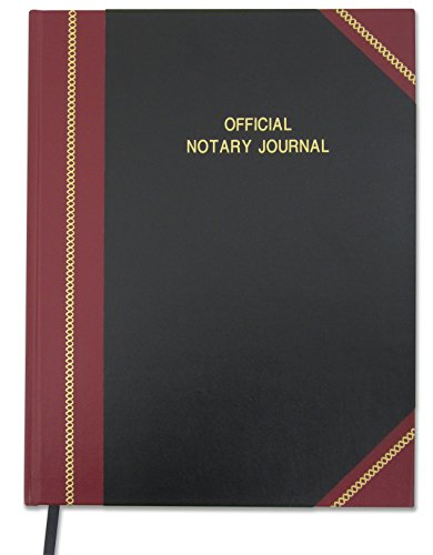 BookFactory Official Notary Journal/Log Book 168 Pages 8.5'' X 11'' 650+ Entries 50 State Journal of Notarial Acts, Black and Burgundy Cover, Black Ribbon, Hardbound, (LOG-168-7CS-LKMST71(NOTARY)) by BookFactory